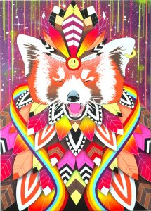 Smiling red panda - Céz Art